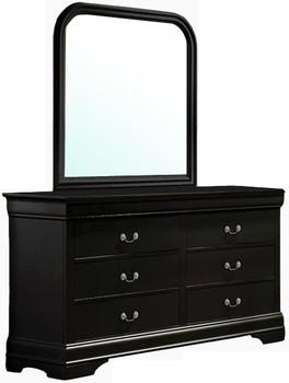 Lafayette Black Dresser & Mirror