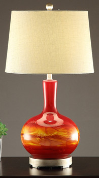 "Earthy 28""H Table Lamp"