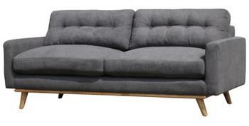 Arabella Gray Fabric Tufted Sofa