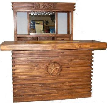 Rustic Brown Star Bar Table 2-PC Set