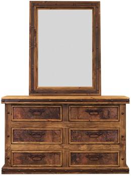 Brock Copper Dresser & Mirror