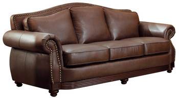 Butch Brown Bonded Leather Sofa