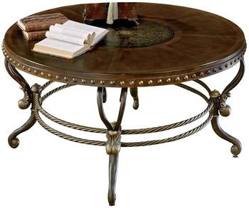 Emmanuelle Metal & Wood Warm Tobacco Coffee Table