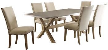 Baldwin Weathered Oak/Grey Zinc 7-PC Dining Set