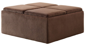 Oliver Ottoman with Trays & Casters