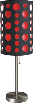 "Etro Red 30""H Table Lamp"