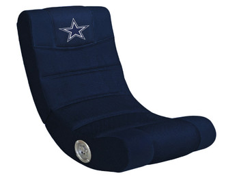 Dallas Cowboys Blue Rocker Chair W/Built-In Blue Tooth