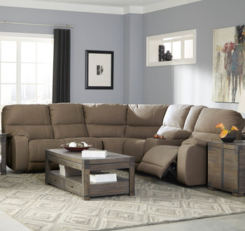 Desster Taupe Reclining Sectional