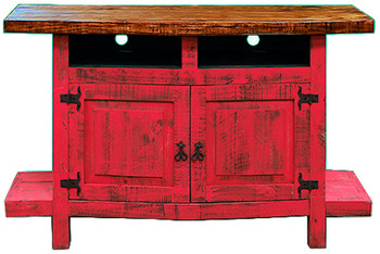 Provencia Red Rustic TV Stand
