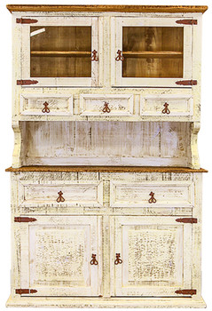 Provencia White Rustic China Cabinet