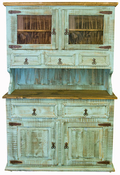 Provencia Turquoise Rustic China Cabinet