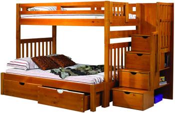Boulder Twin over Full Stairway Bunk Bed