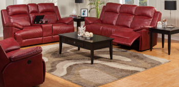 Albert Red Reclining Loveseat