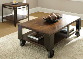 Delta Brown Two-Tone 3-PC Occasional Set