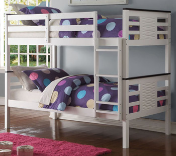 Becky White/Espresso Twin Over Twin Bunkbed