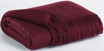 Vale Burgundy Decorative Throw