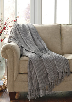 Tabby Gray Decorative Throw