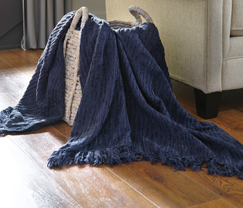 Tabby Blue Decorative Throw