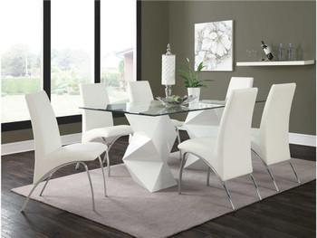 Sabina White 9 Pc Dining Set