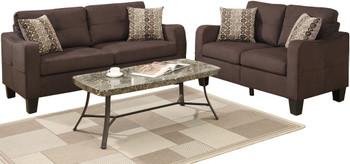 Tempoe Chocolate Living Room Set