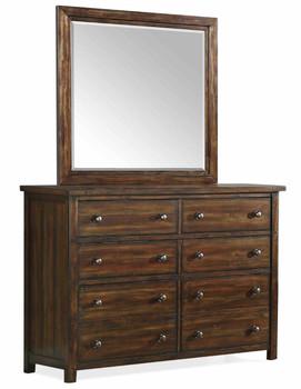 Kalina Chestnut Dresser & Mirror