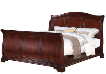 Selena Dark Cherry Sleigh Bed