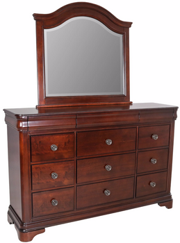 Selena Dark Cherry Dresser With Hidden Drawers