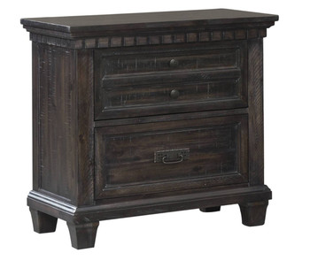 Santa Fe Weathered Grey/Oak Nightstand With Underneath LED Lighting