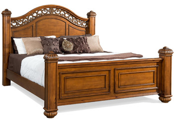 Everette Warm Oak Poster Bed