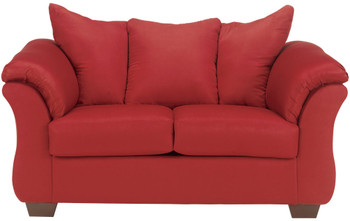 Edeline Spice Plush Loveseat