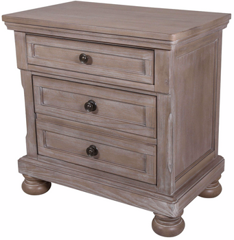 Braylon Grey Nightstand With Hidden Storage