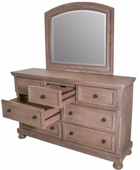 Braylon Grey Dresser/Mirror With Hidden Storage