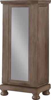 Braylon Grey Swivel Chest/Mirror With Jewelry Door