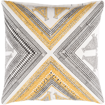 Designer Yellow Throw Pillow