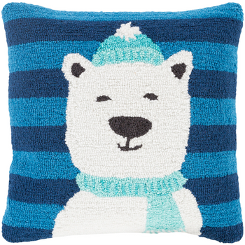 Designer Polar Bear Throw Pillow