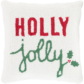 Designer Holly Jolly Throw Pillow