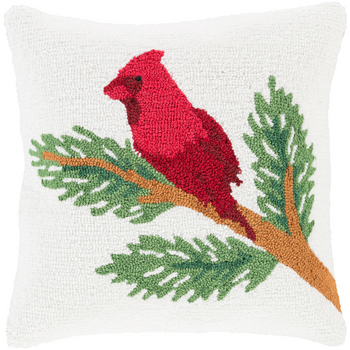 Designer  Cardinal Throw Pillow