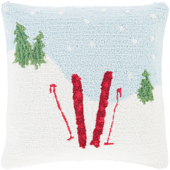 Designer Snow Throw Pillow