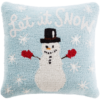 Designer Snow Blue Pillow