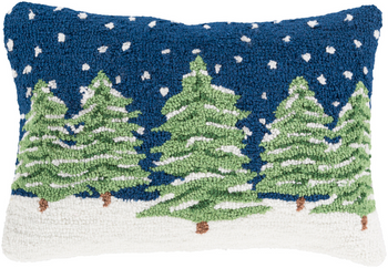 Designer Snow Trees Pillow