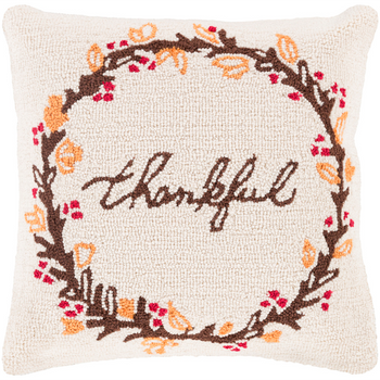 "Designer ""Thankful"" Throw Pillow"