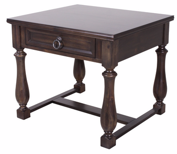 Alley Charcoal End Table With Drawer