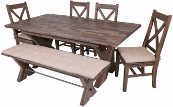Rutherford Distressed Grey 6-PC Dining Set