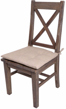 Rutherford Distressed Grey Dining Chair With Cushion