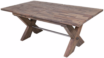 Rutherford Distressed Grey Dining Table