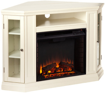 """Kendall White 46"""" Fireplace"""