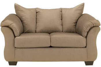Edeline Mocha Plush Loveseat