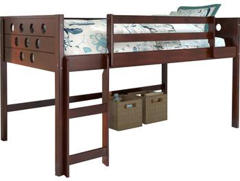 Bridgette Circular Cappuccino Twin Loft Bed
