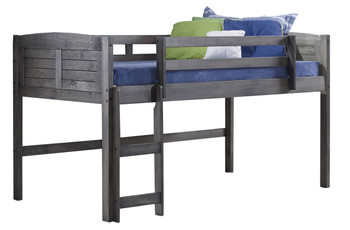 Canty Aged Grey Twin Loft Bed