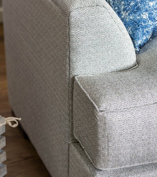 Birmingham Light Grey Fabric Sectional
